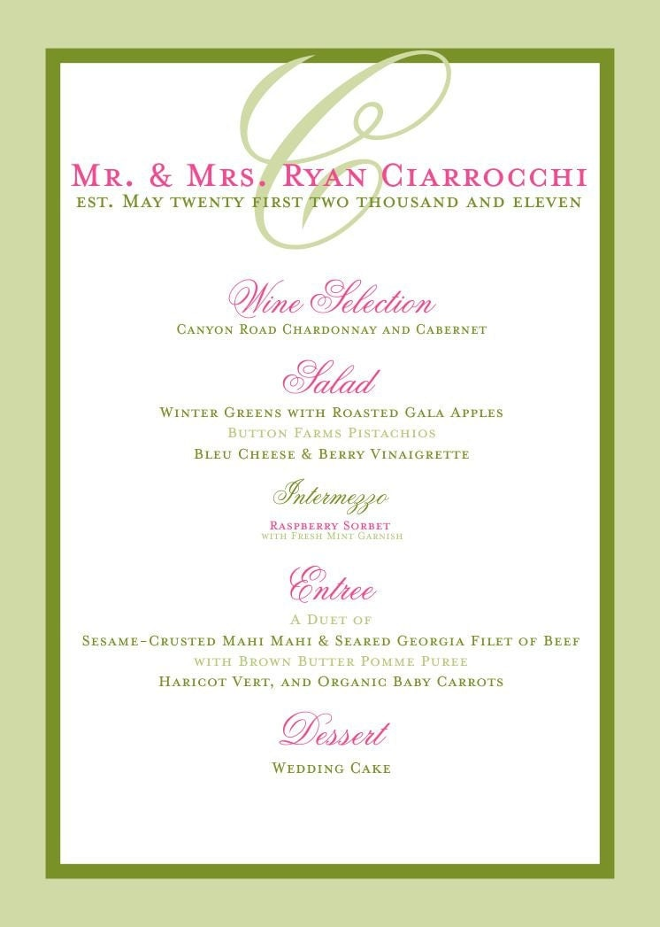 menu ideas for bridal shower luncheon