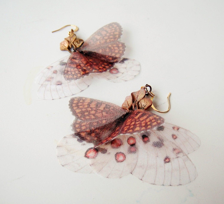 Коронованный Fluttery серьги бабочки готово к отправке