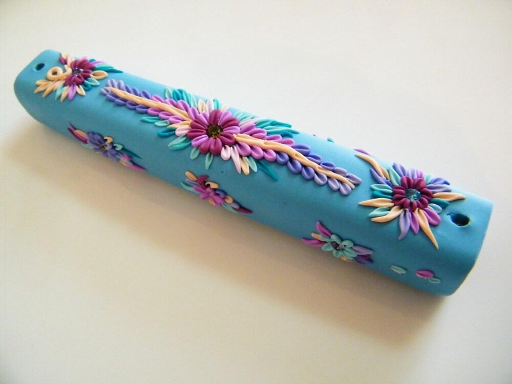 Lush Floral Garden - Mezuzah Case - flowersy