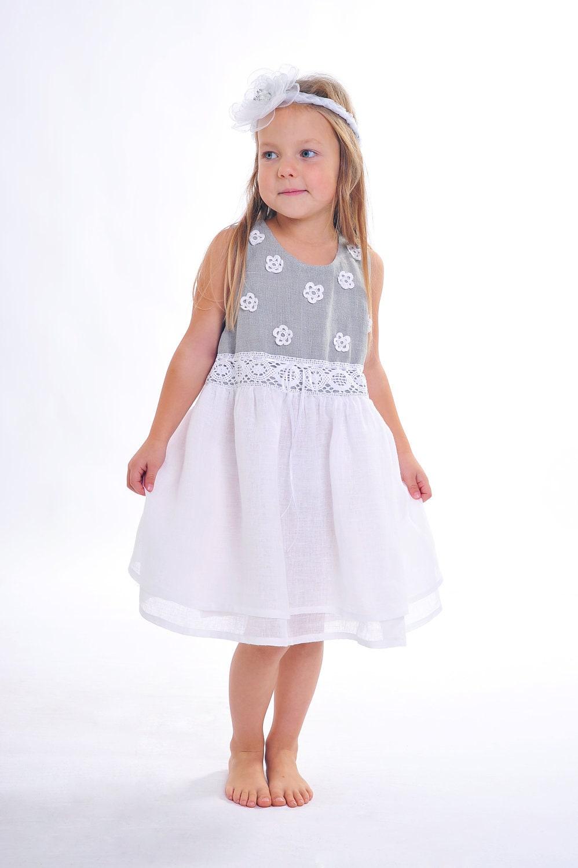 Adorable @etsy finds for #girls, Linen Flower Girl Dress by @SnowwhiteLinen