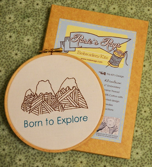 "Embroidery Kit ""Born to Explore"""