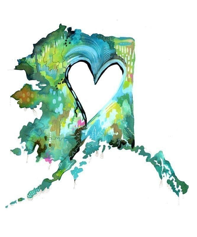 Alaska Love - 8x10 Print - thewheatfield