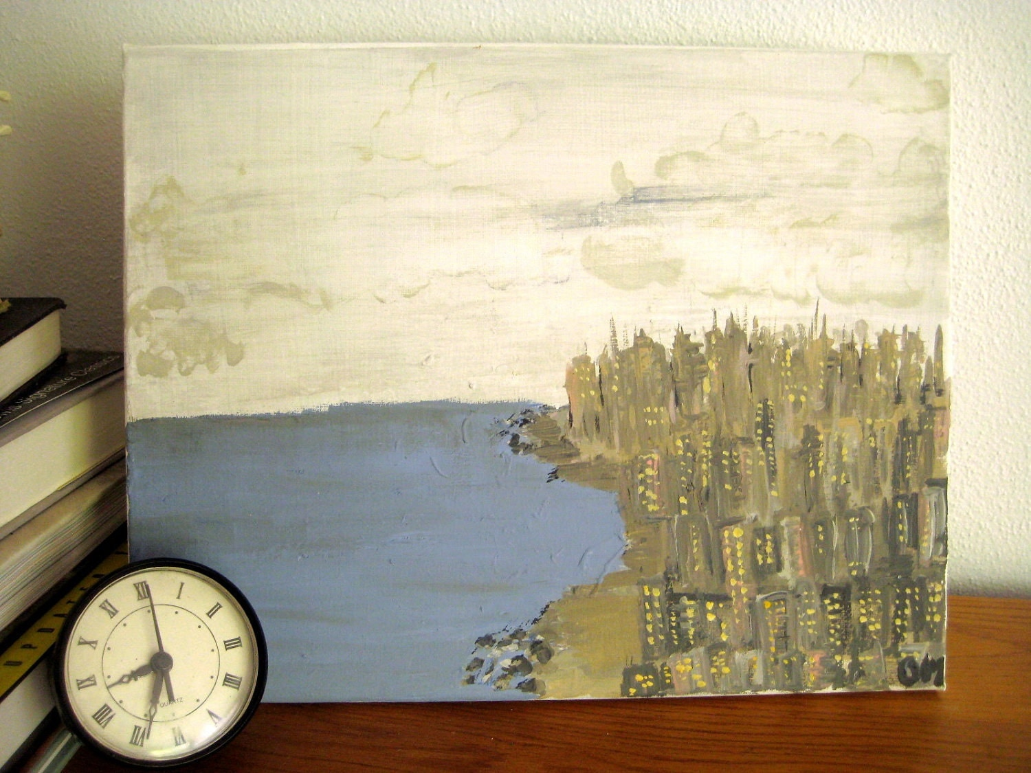 City by the sea original art