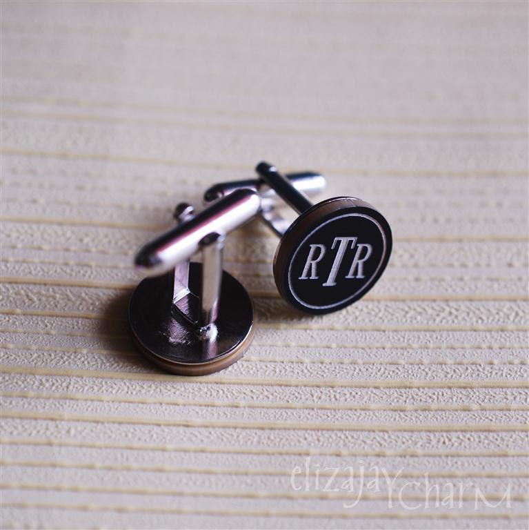 roman monogram cufflinks