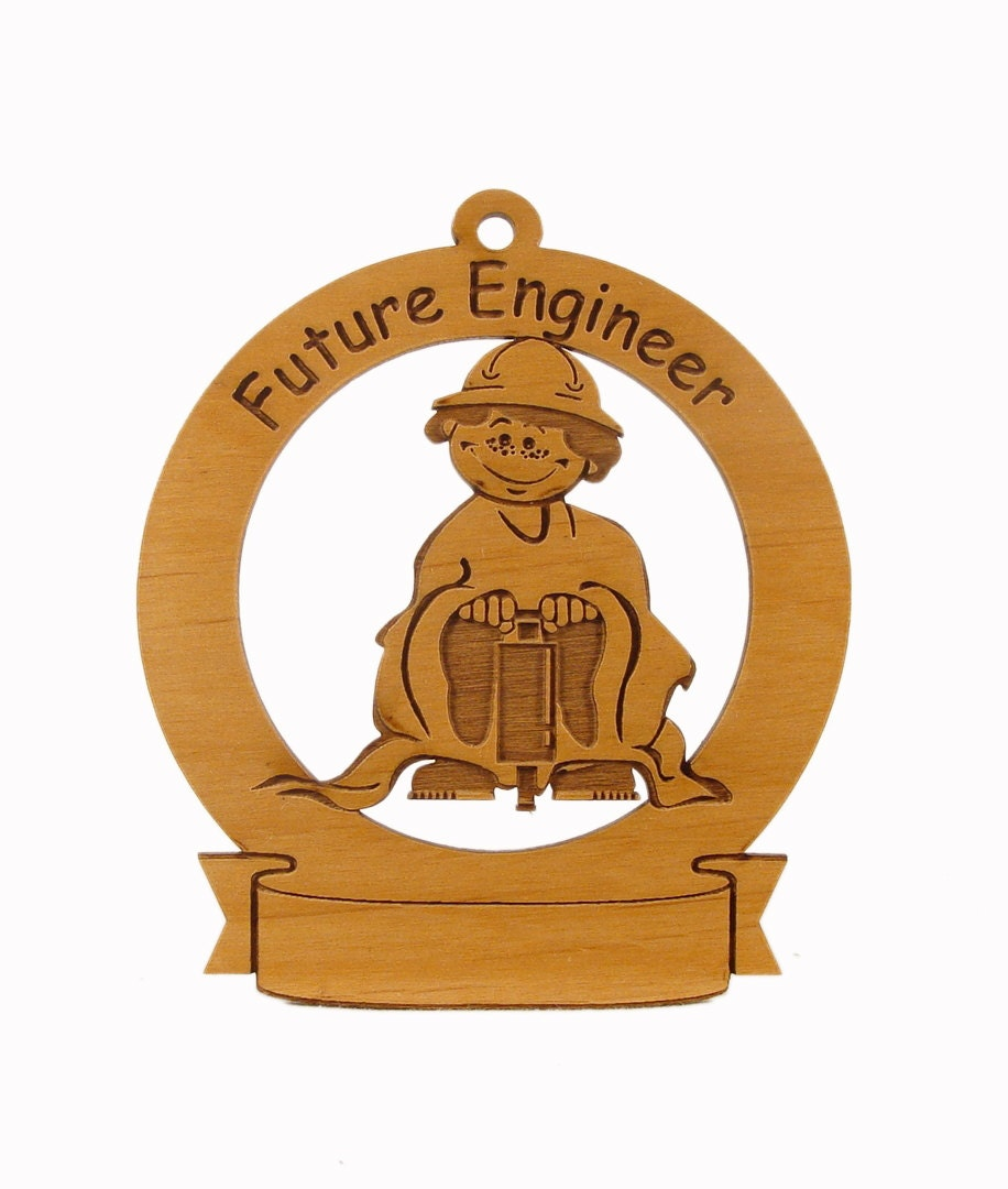 Future Engineer Ornament Personalized with Your Child's Name - gclasergraphics