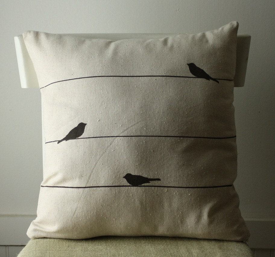 bird on a wire pillow cover
