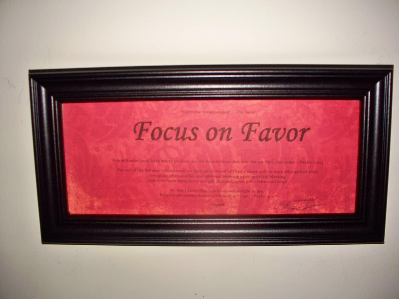 Inspirational Framed WORD Art / Focus On Favor