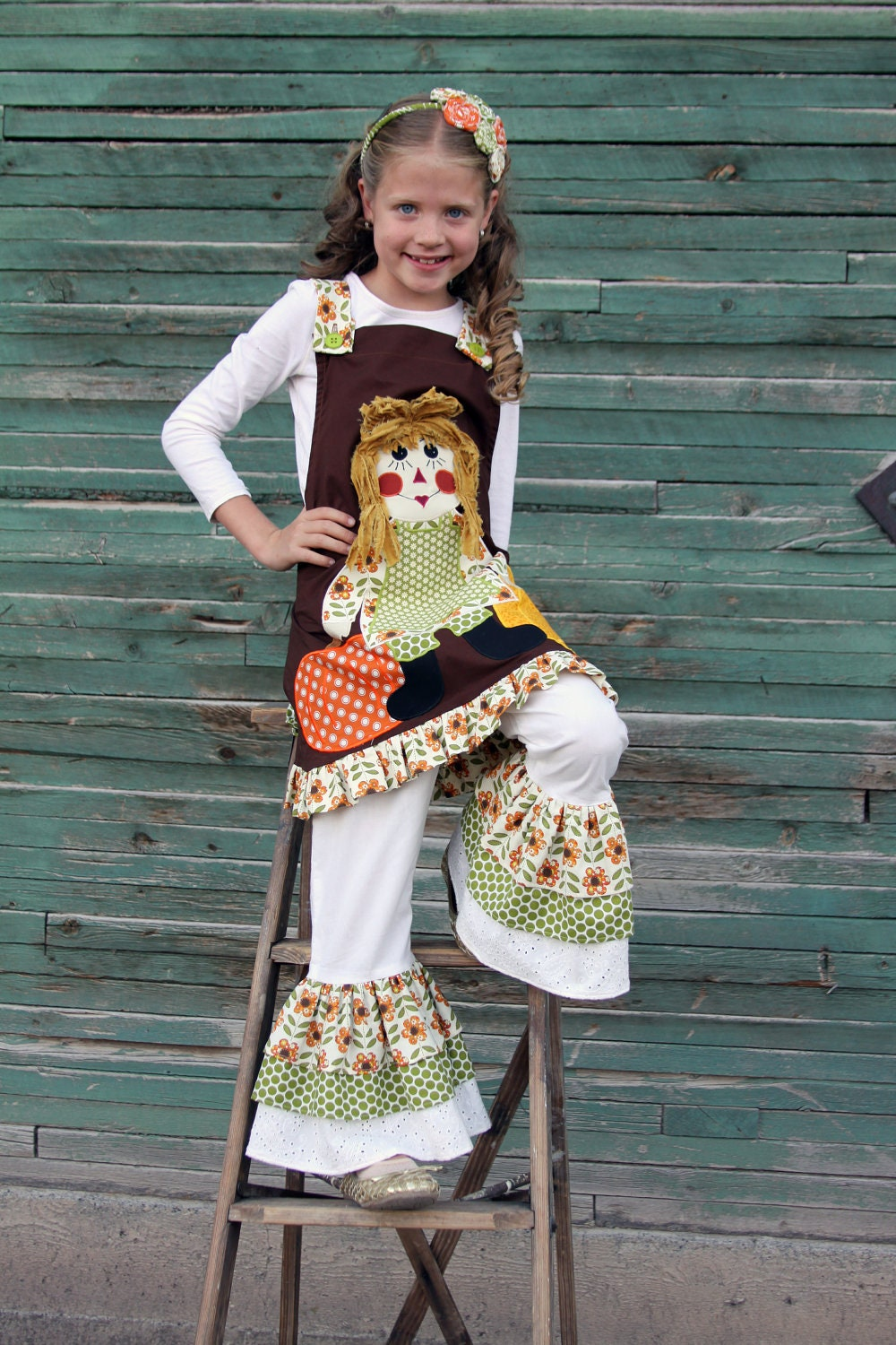 Custom Boutique Girls Halloween Fall Thanksgiving Rag Doll Made to order 3T 4T 5T 6 7 8 10 FREE SHIPPING
