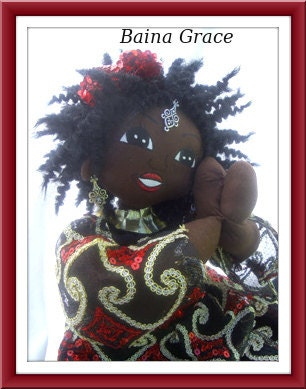 Handmade ooak art high fashion African American doll