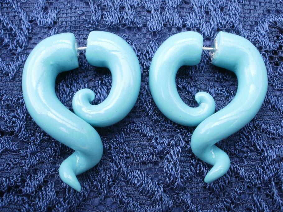 Azul FAKE Gauge Earring - deceptions