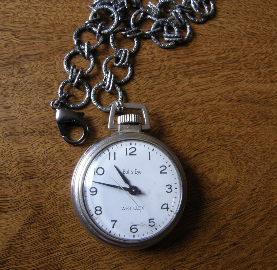 vintage Westclox Bull's Eye Pocket Watch