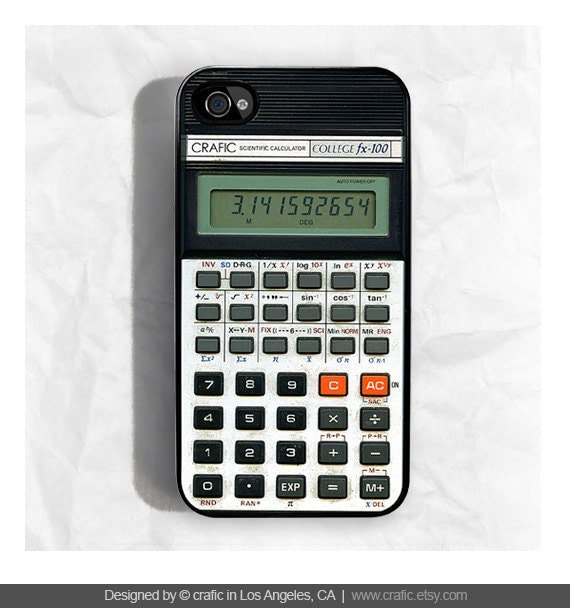 iPhone 4 case iPhone 4s case - Retro Calculator iPhone Case