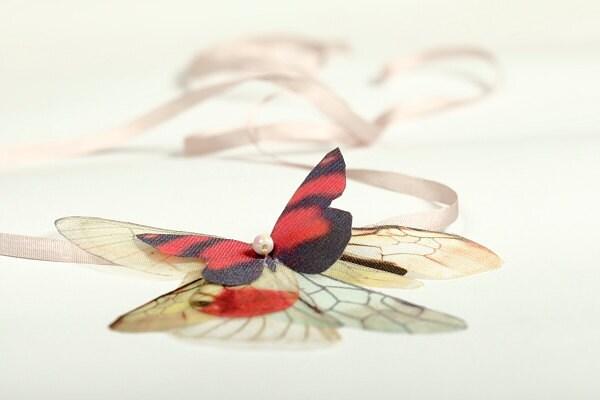 Fluttery бабочки на слоновой кости колготки с шов