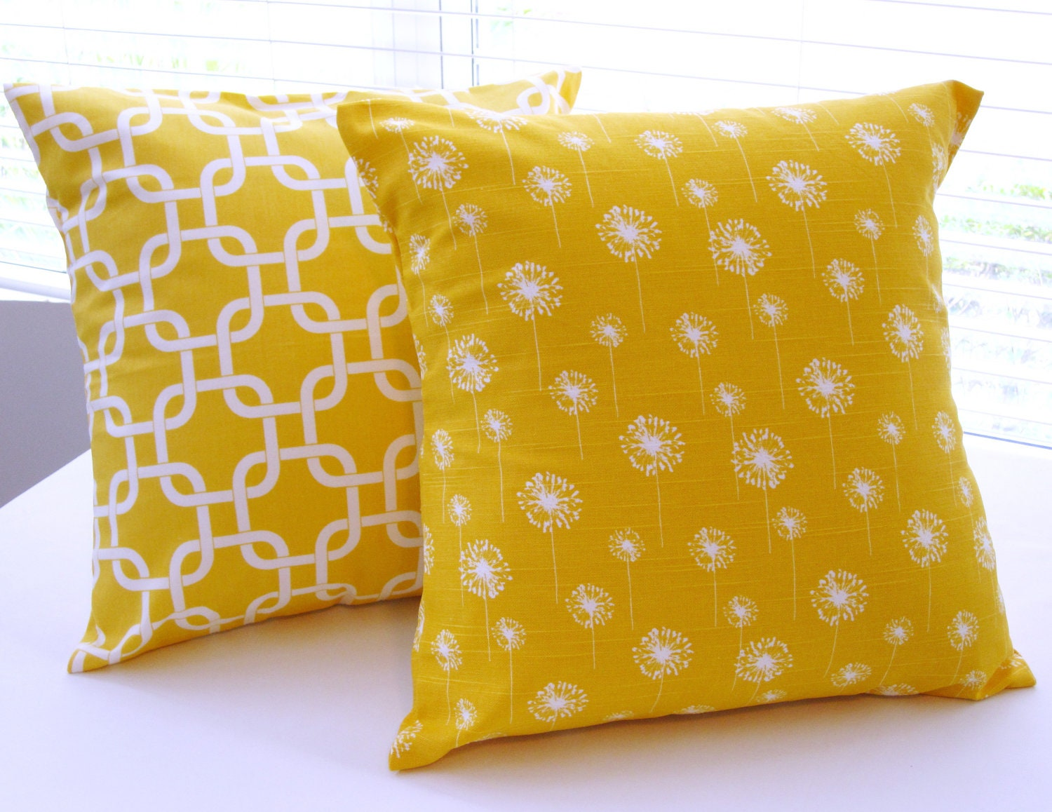Decorative Pillows Bedding Yellow Pillow Covers by PillowsByJanet