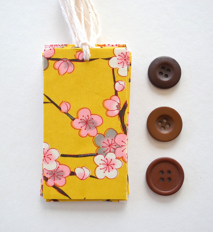 Yuzen Pink & White Plum Blossoms Gift Tags - Set 10 - yarisiandco