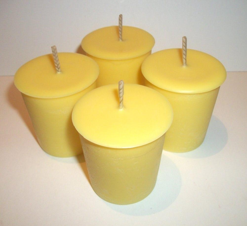 Pineapple Scented Soy Votive Candles Set of 4