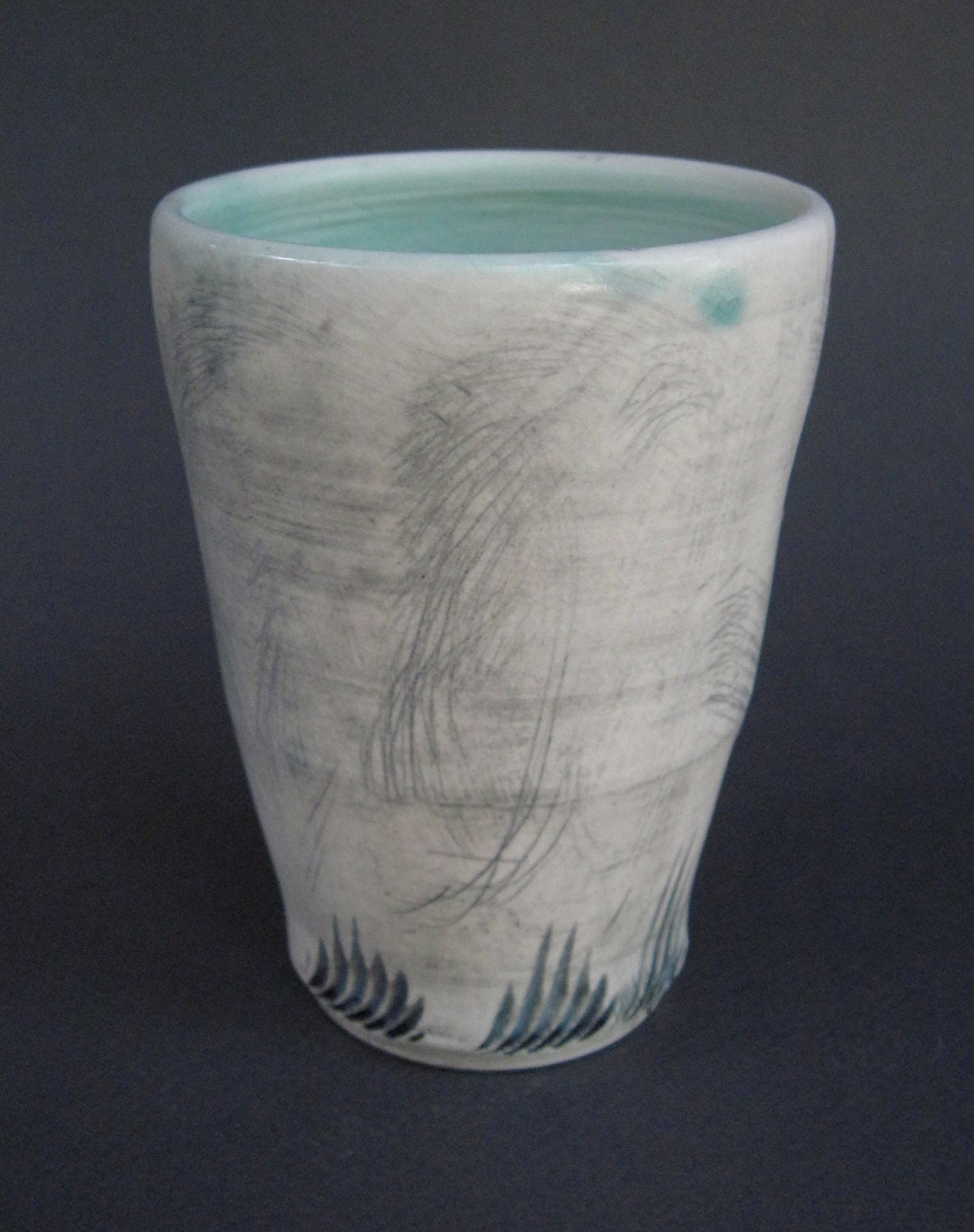 cup with turquoise glaze (051)
