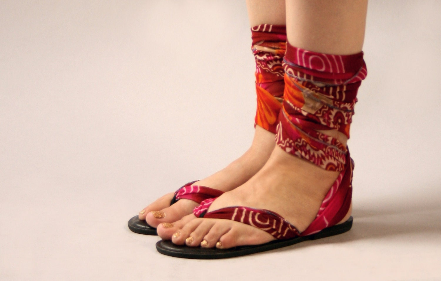 Size 9 - Moped by Mohop Handmade Interchangeable Sandals - Thong Style