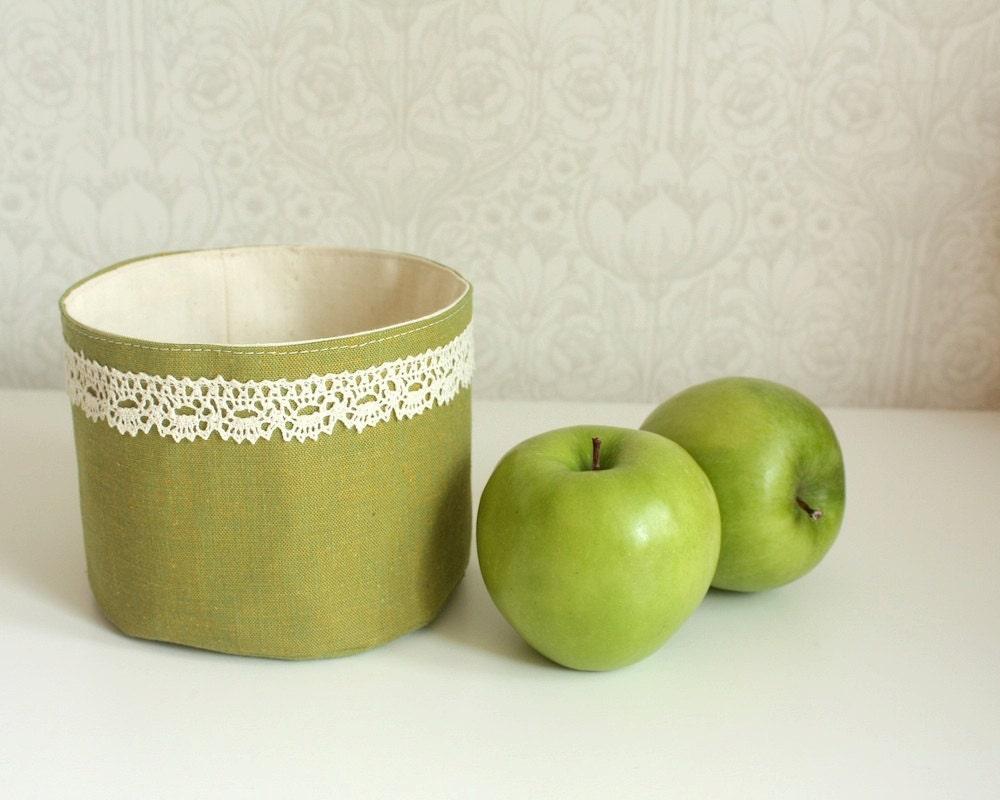 круглый бен хранения, оливковое размер S зеленый