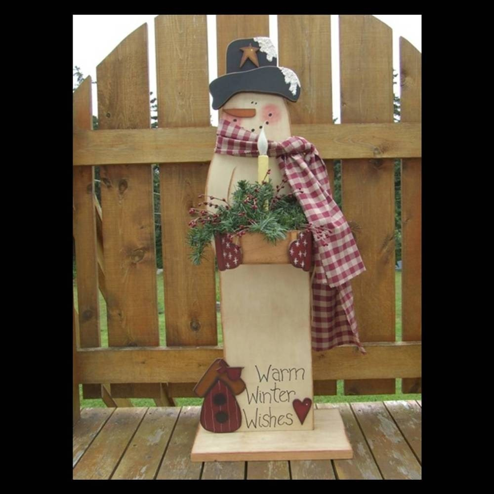 Free Snowman Mailbox Sitter Pattern - Christmas Yard Decoration