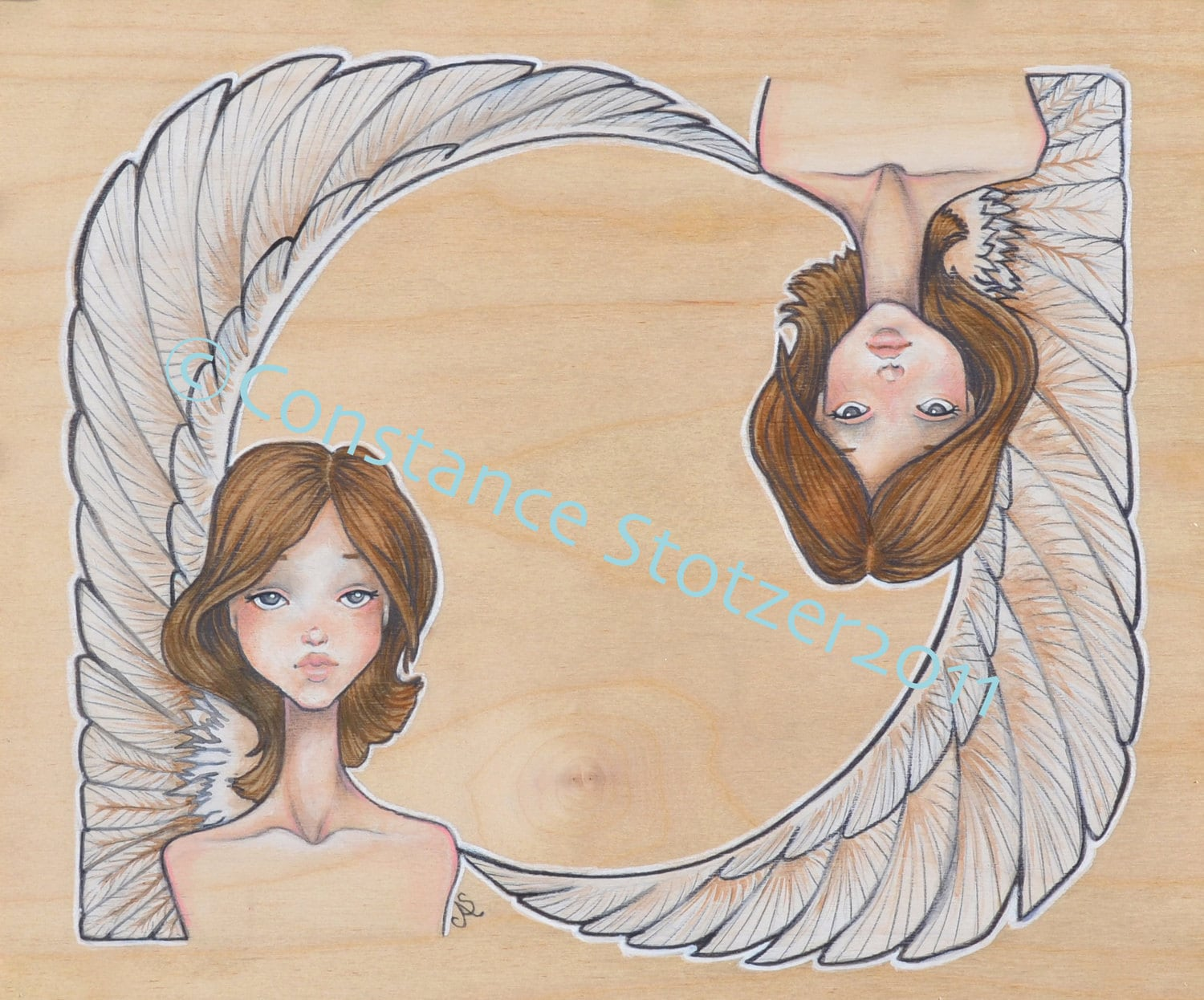 Winged Sphinx Twins- Giclee Print