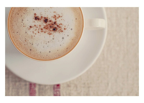 coffee photograph - original fine art photography, cup of joe, cafe latte, mocha - 5x7 - nelou