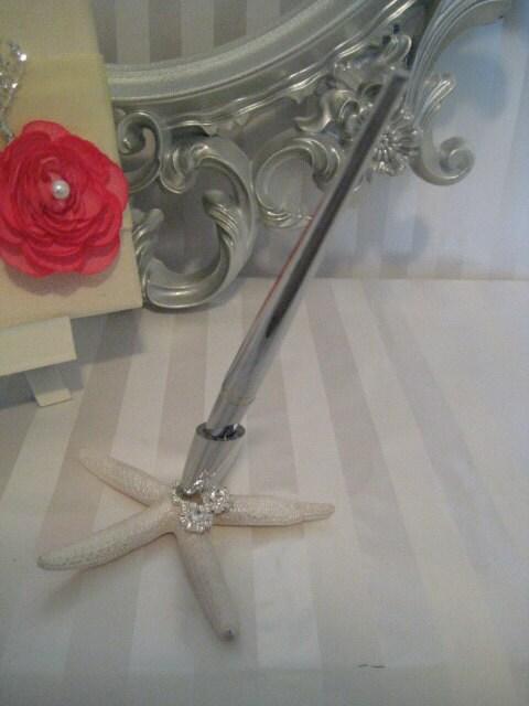 Beach Wedding Guest Book Pen - starfish guest book pen
