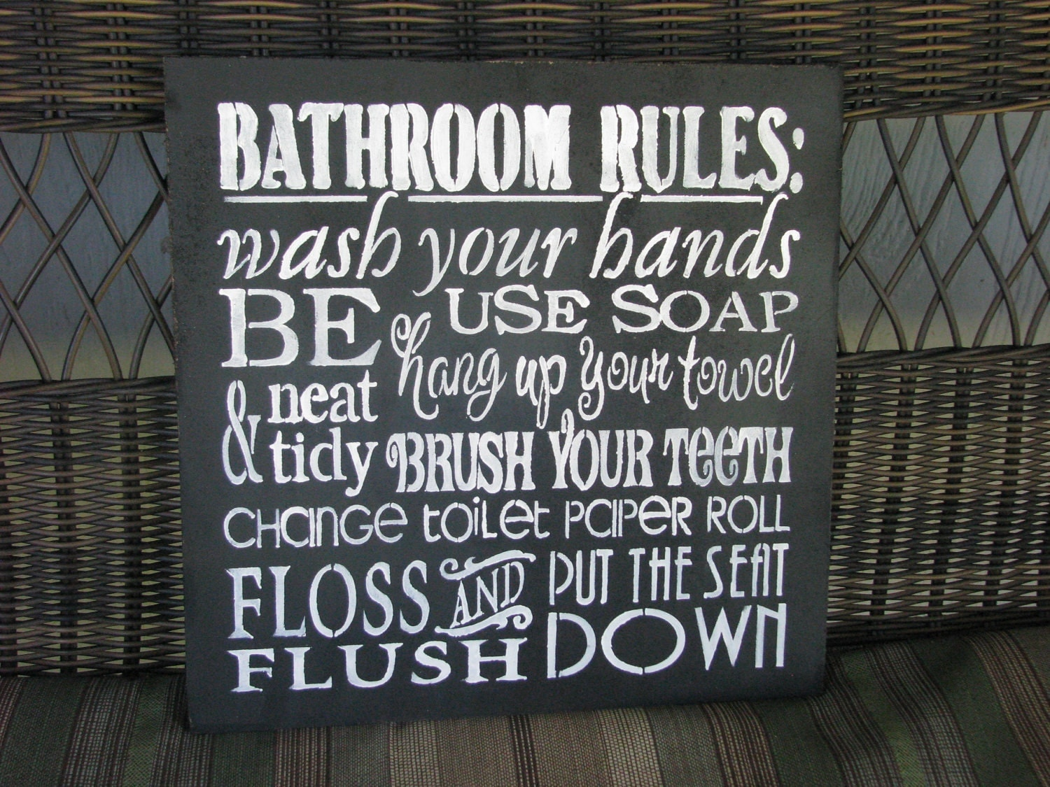 Toilet Rules Sign Http Www Timelessgiftware Co Uk Products Signs And
