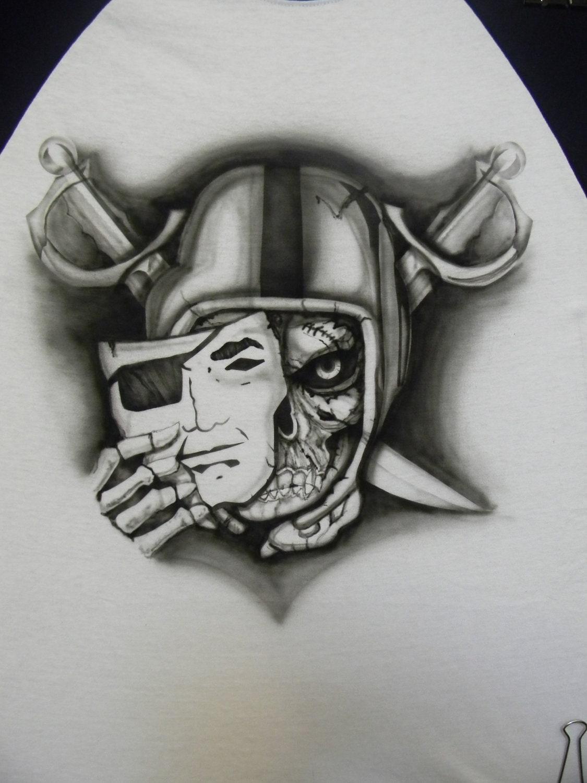 raiders tattoo skull galleryhip     the hippest galleries