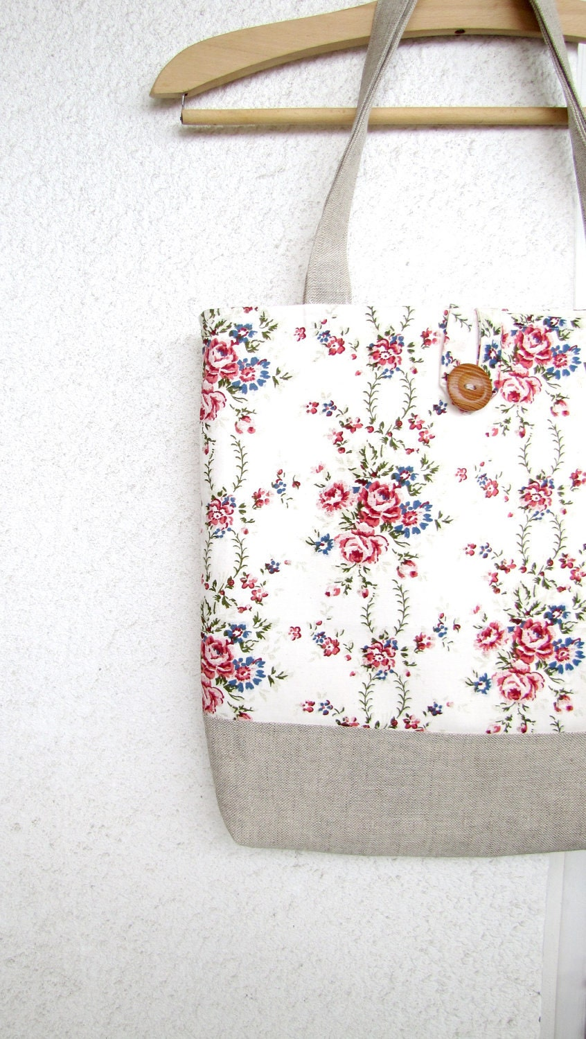 Aroma Garden - Roses Patterned Tote Bag