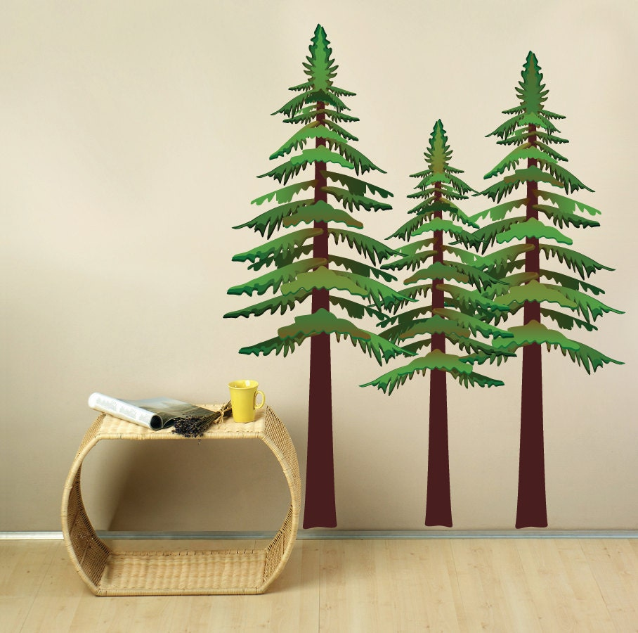 Pine Trees Wall Decal - StudioWallDecals