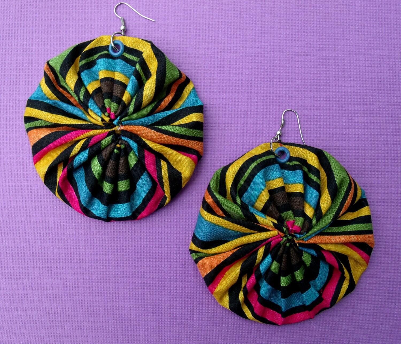 Kaleidoscope YoYo Earrings