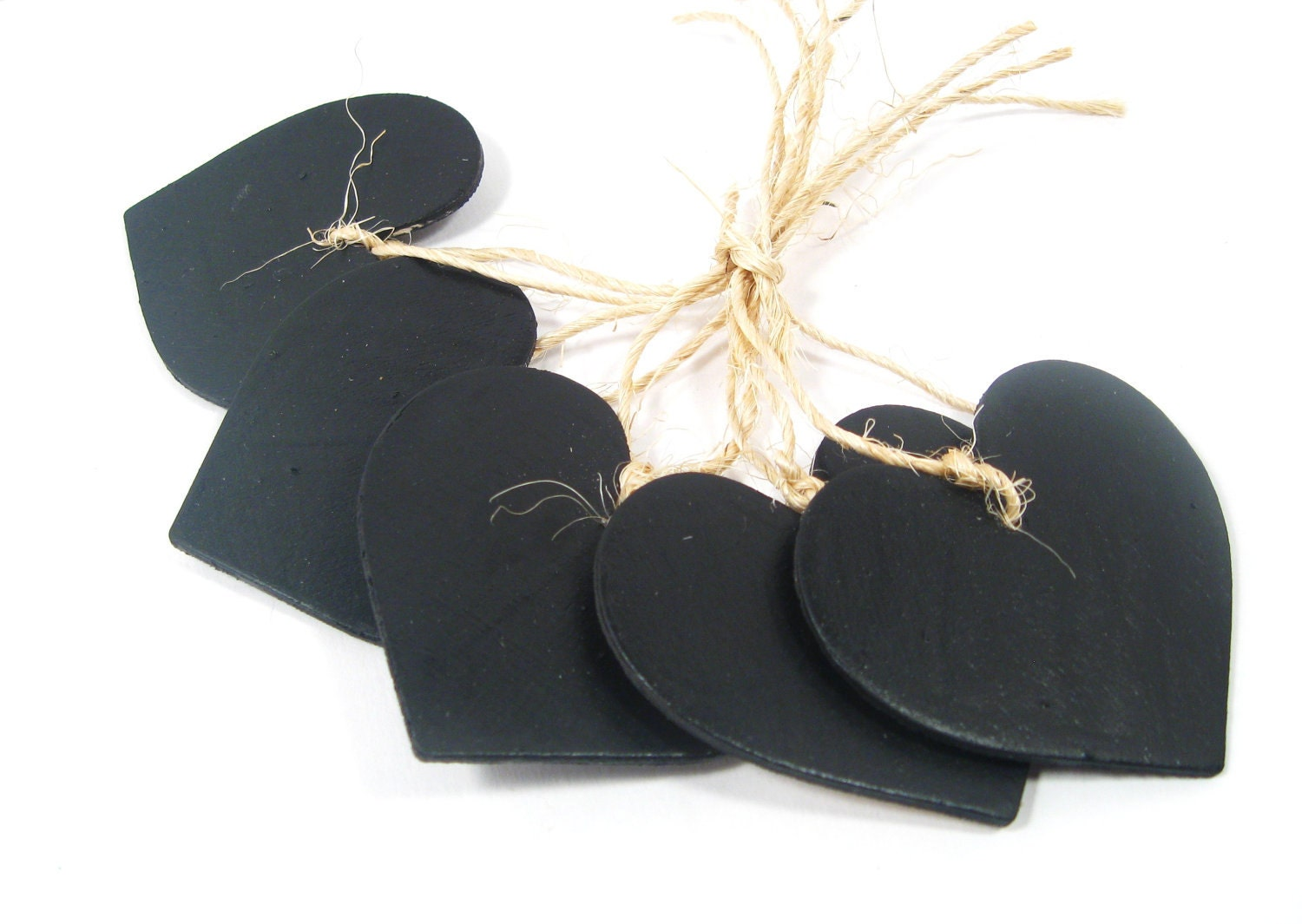 10 Rustic Woodland Chalkboard Hearts. Great for Table numbers or DIY