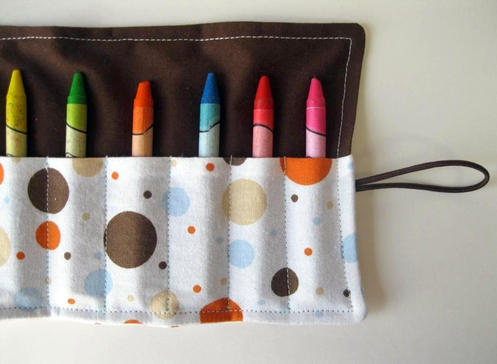 Classic Crayon Roll. Lots of Dots - SeeAnnaSew