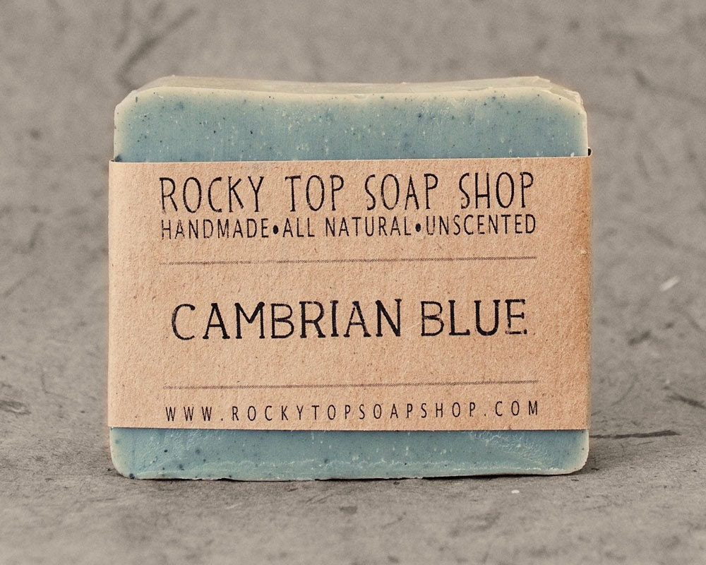 Cambrian Blue Clay - All Natural Soap, Handmade Soap, Unscented Soap, Cold Process Soap