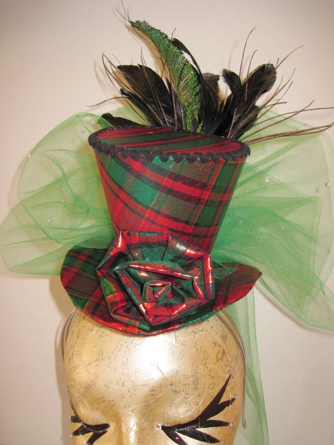 Tartan TeaCup Toppa Cocktail Hat