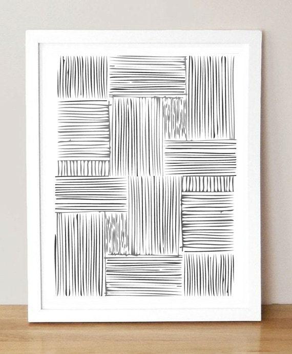 Hash Marks - 8x10 Framable Art Print - msmatilda