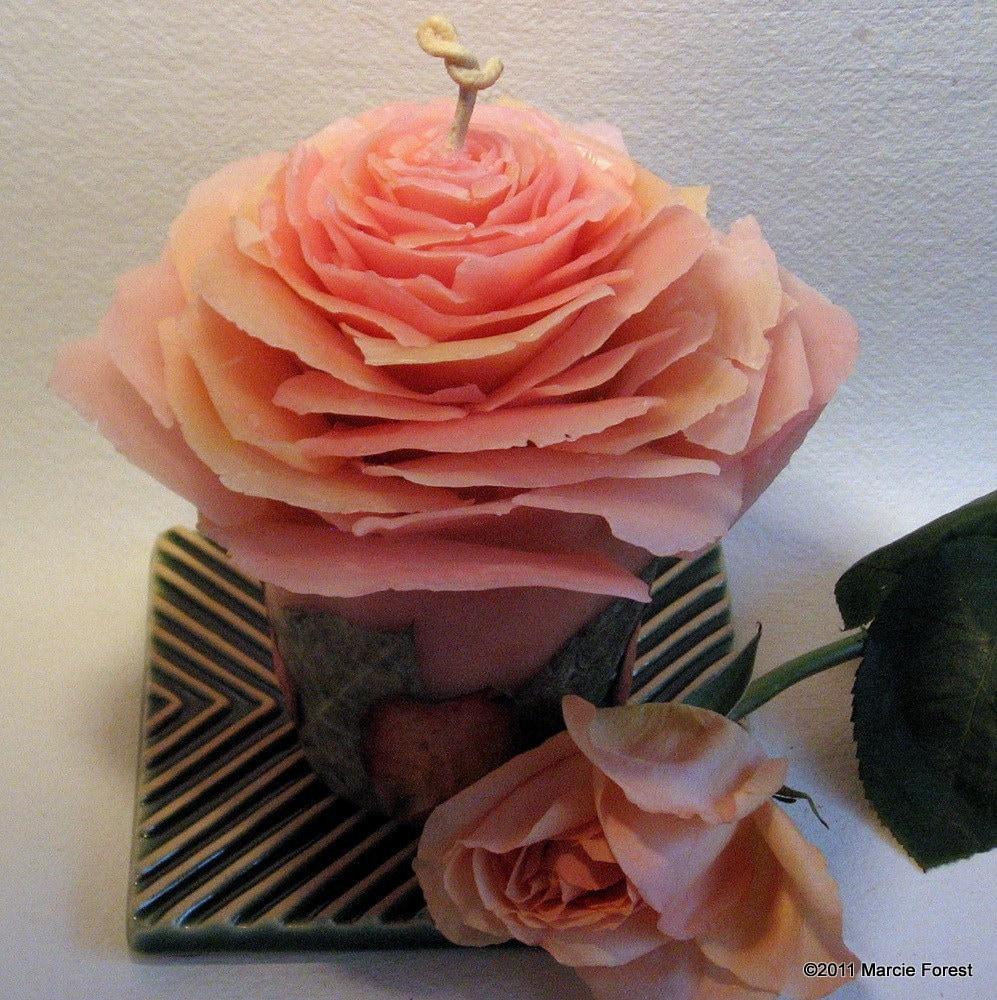 Мед розовый Rose Garden компонент - чистый пчелиный воск, лепестками роз - Уникальные люкс Эко Роза Свечи Лесным Марси для подарков, Home Decor, Свадьба