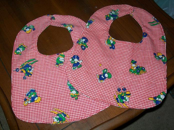 Baby Bibs Set of 2 in Red for Boys