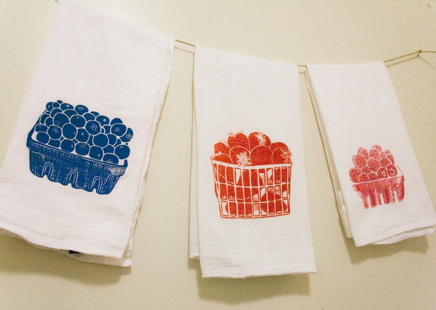 berry flour sack towels