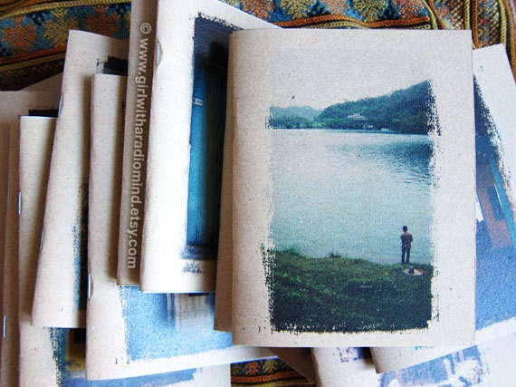Sun Moon Lake - Pocket Travel Notebook with FREE rustic wooden pencil - Cover No. 22