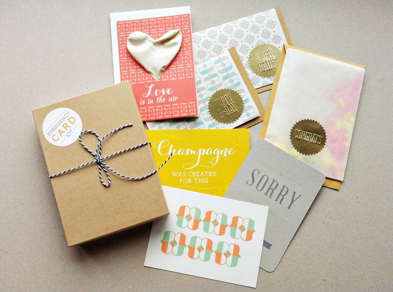 Emergency Kit // Greeting card set // Inc. envelopes