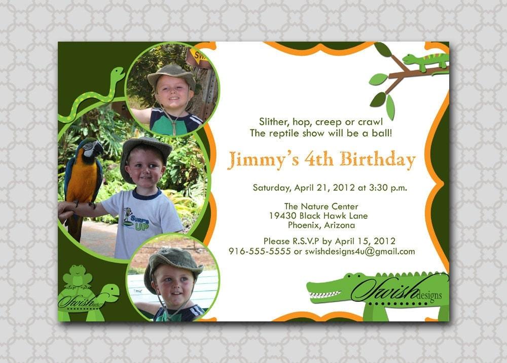 Snake Birthday Invitations