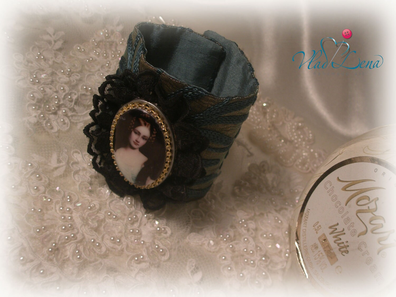 МОЦАРТ (1) Урожай браслет манжеты Ткань