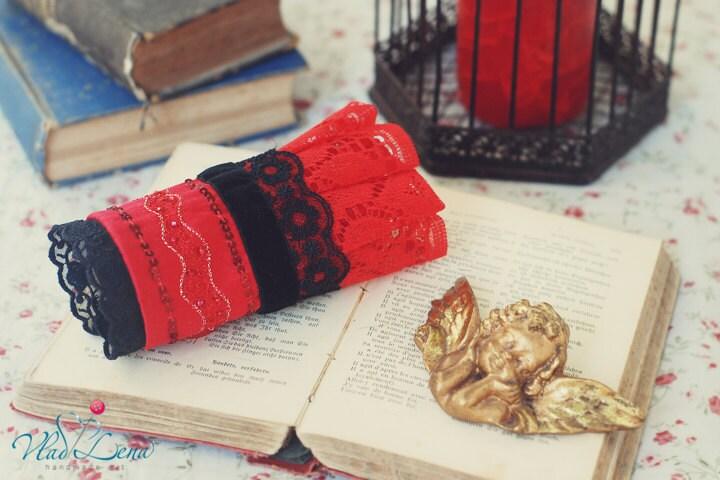 Ищете НЕЖНОСТЬ - 2 викторианской Vintage манжеты Браслеты Романтический кружевной ткани