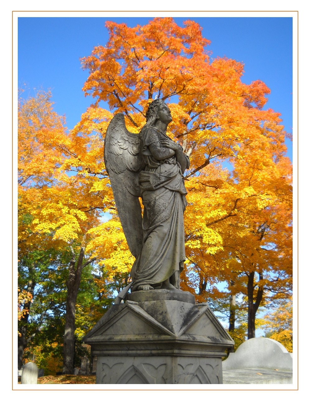 Photograph - The Angel of Belfast, Maine large format  print - PatriciaSheaDesigns