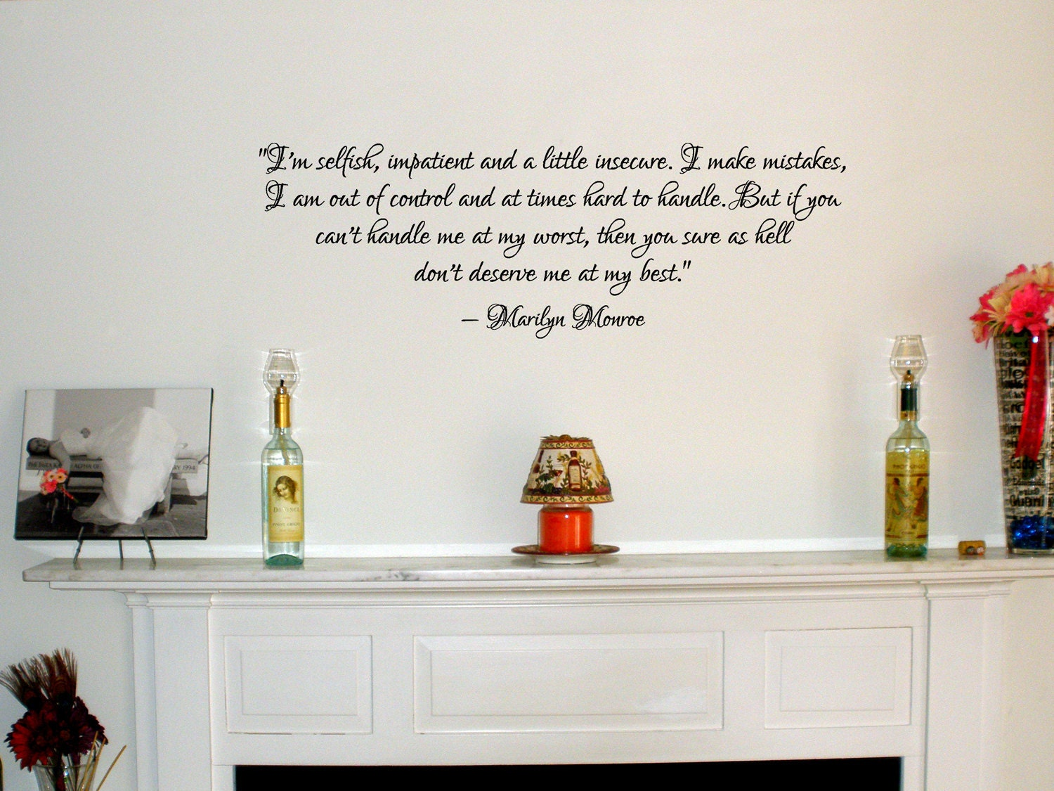 Marilyn Monroe quote removable