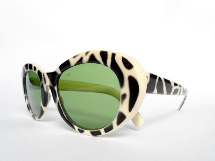 Italian Animal Print Sunglasses Vintage - Antichic