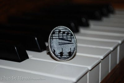 Sheet Music Adjustable Ring