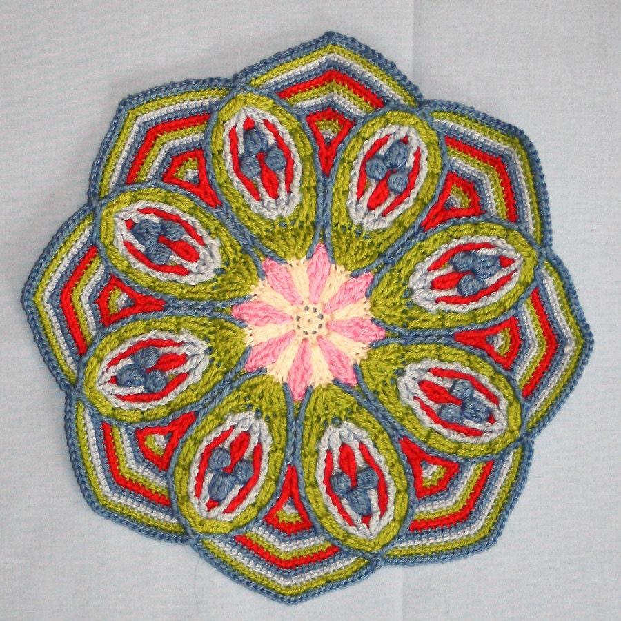 Crochet Overlay Mandala No. 2  - Pattern - PDF